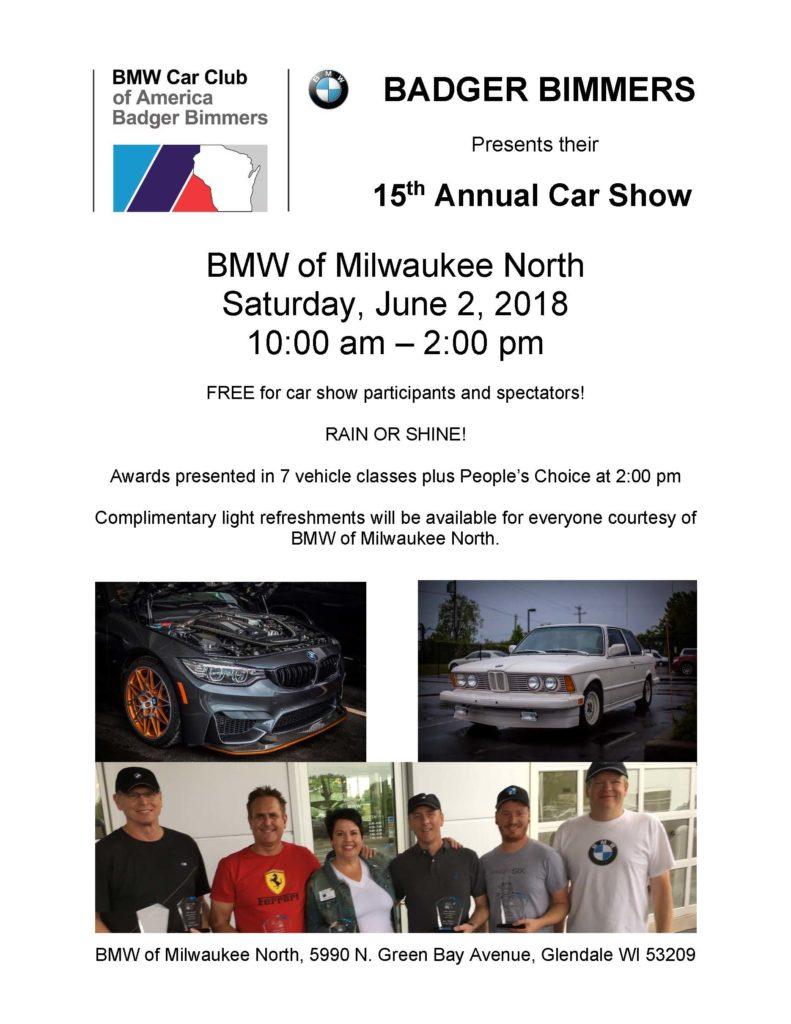 Th Annual BMW Car ShowBadger Bimmer - Car show milwaukee 2018